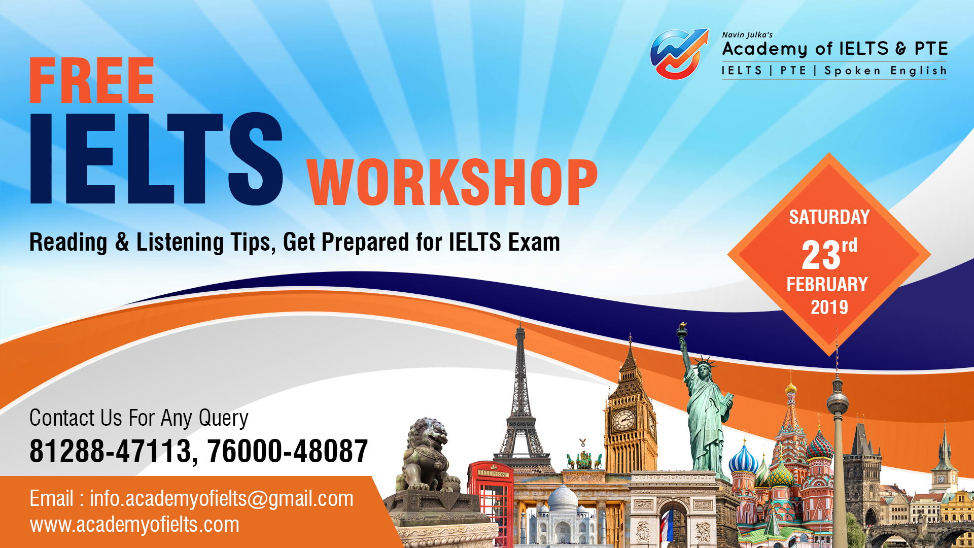 4 Hours FREE IELTS WORKSHOP ON READING AND LISTENING TIPS